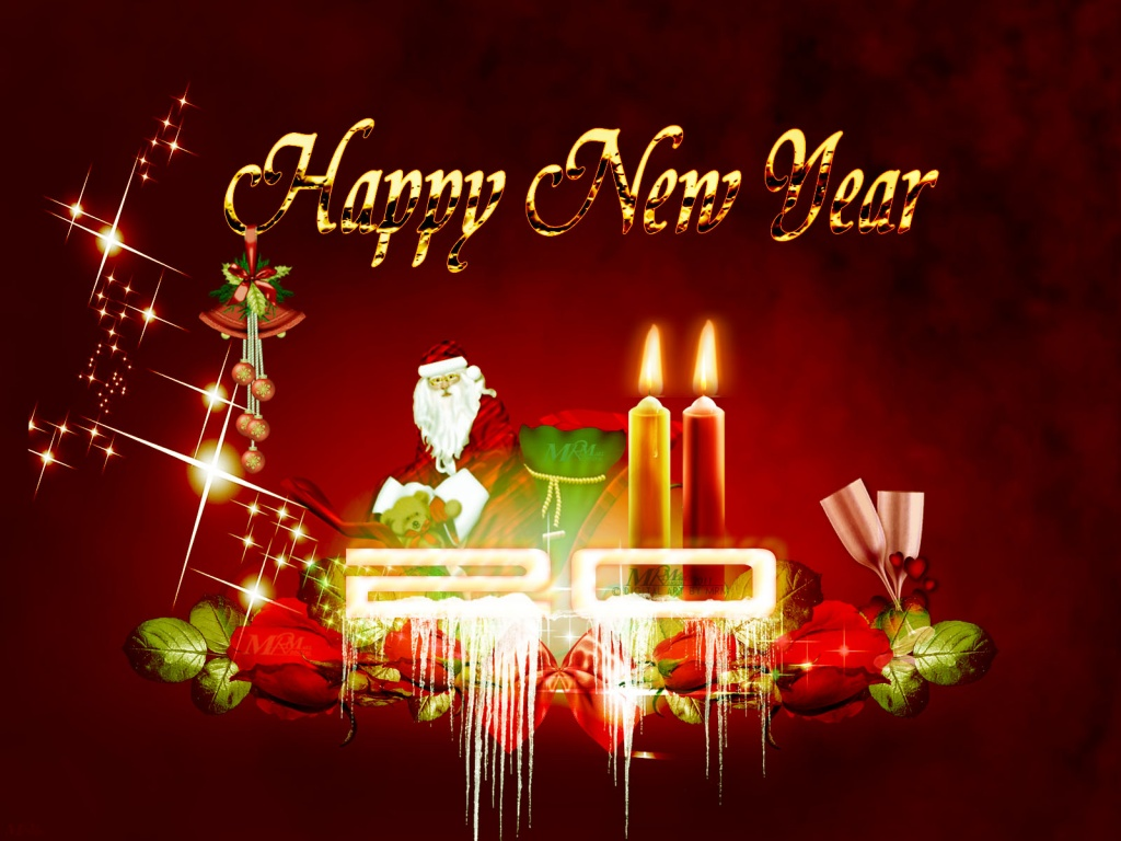 2011 New Year Santa Wallpapers in jpg format for free download