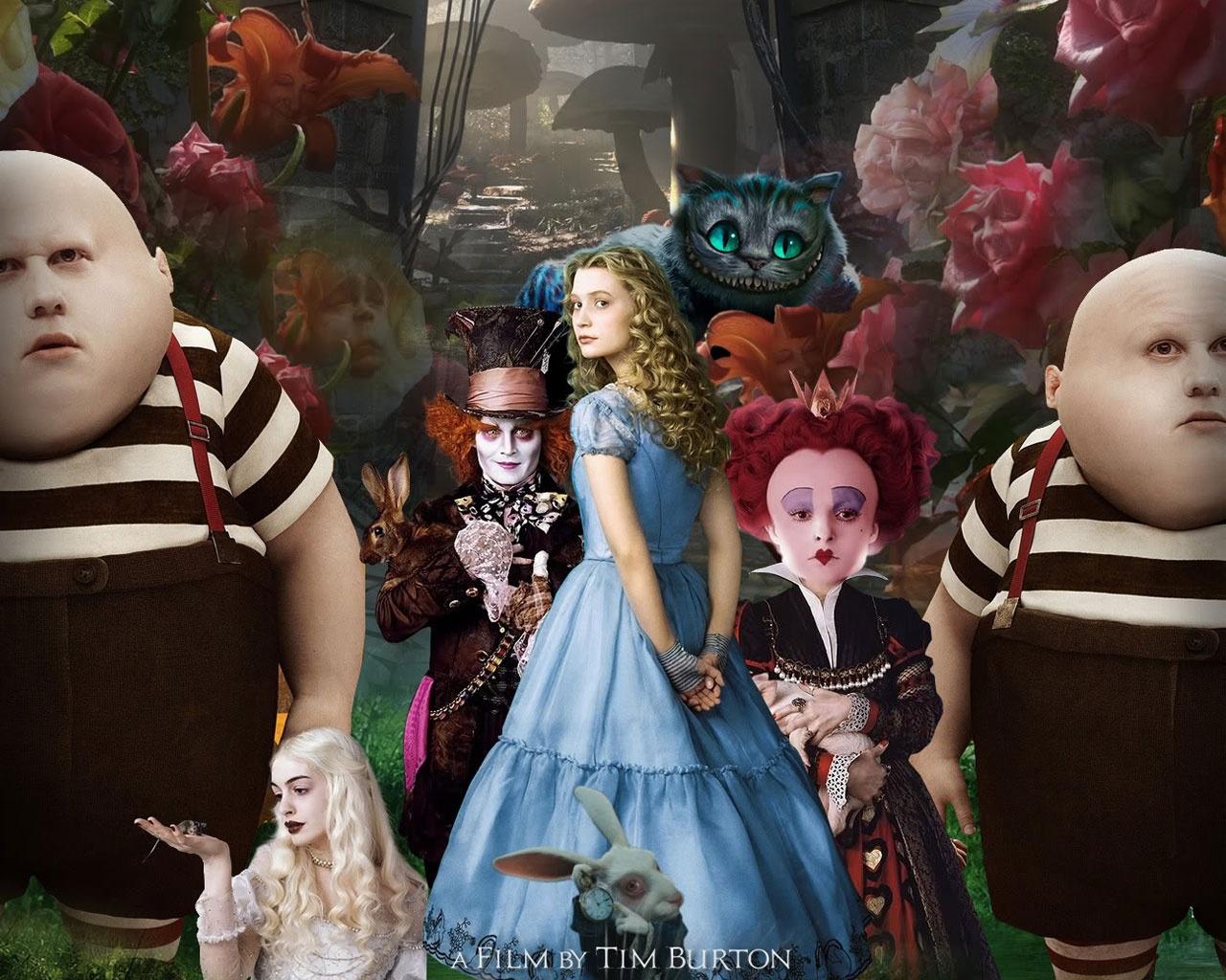 Alice in wonderland movie poster wallpapers in jpg format for free.