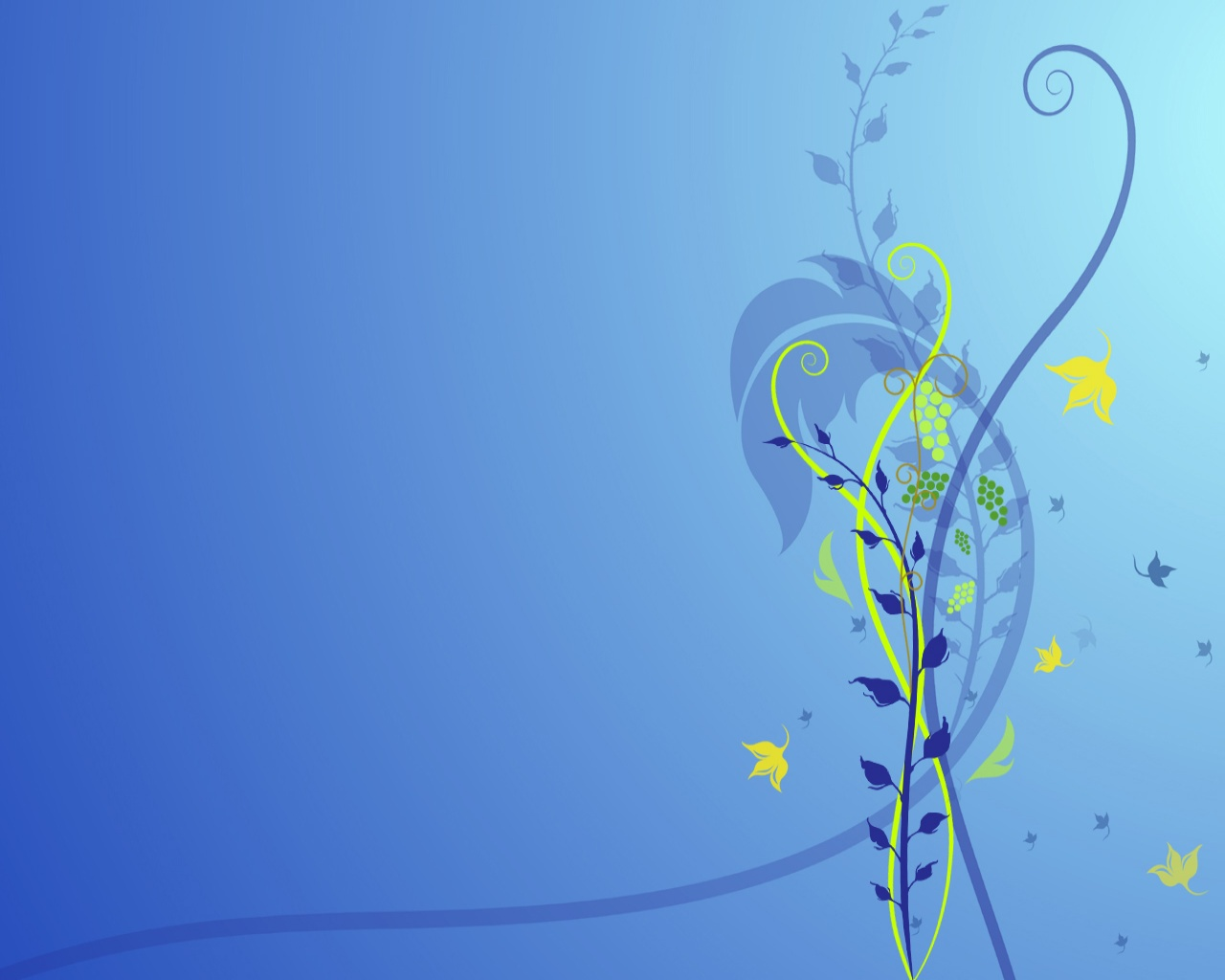 Blue Flower Abstract Wallpapers