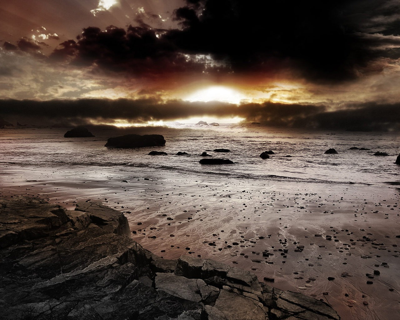 Dark Sunset Wallpaper Landscape Nature Wallpapers in jpg format