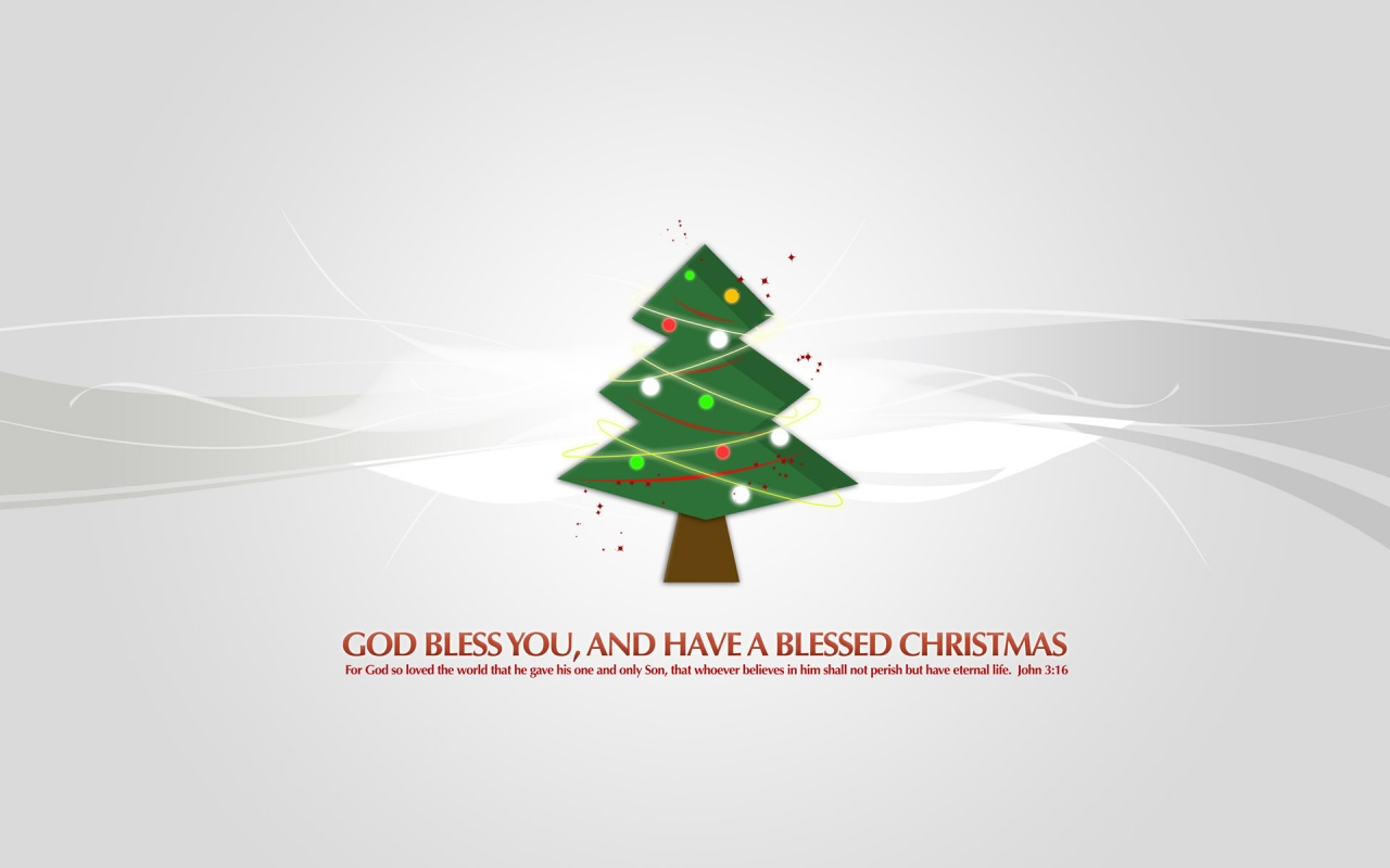 Christmas Tree God Bless You Wallpapers in jpg format for free