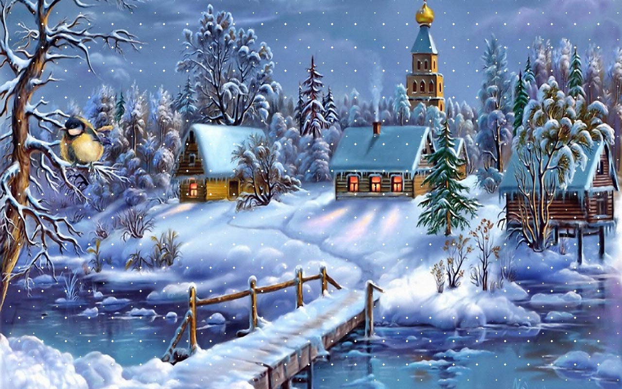 winter dreamland wallpaper cartoons anime animated wallpapers in