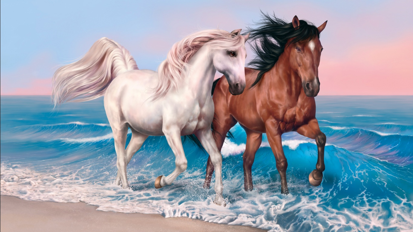Horses Art Wallpapers In Jpg Format For Free Download