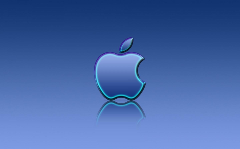 Apple Blue Reflexion Wallpaper Apple Computers Wallpapers In