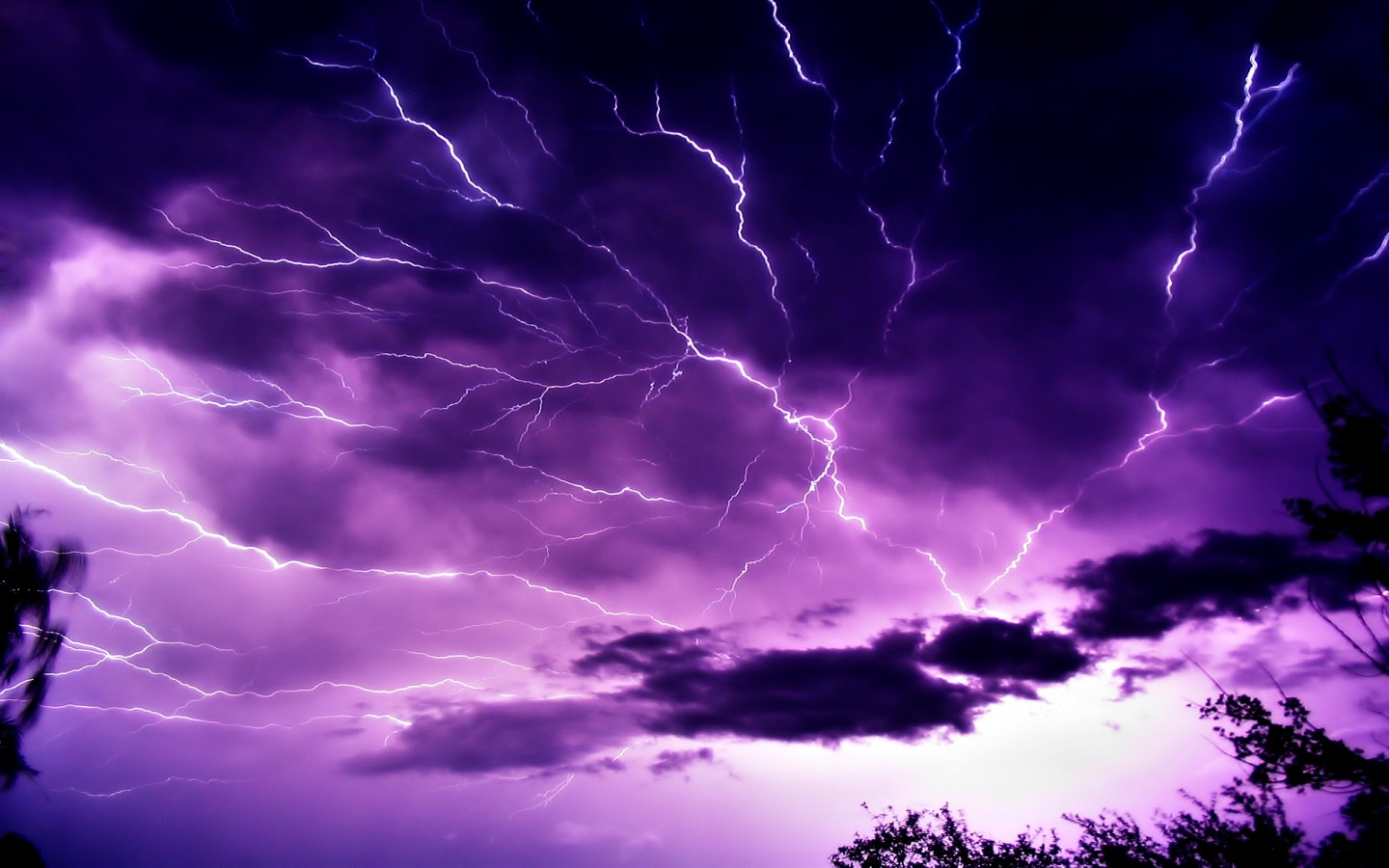mauve sky with lightning wallpaper landscape nature wallpapers in