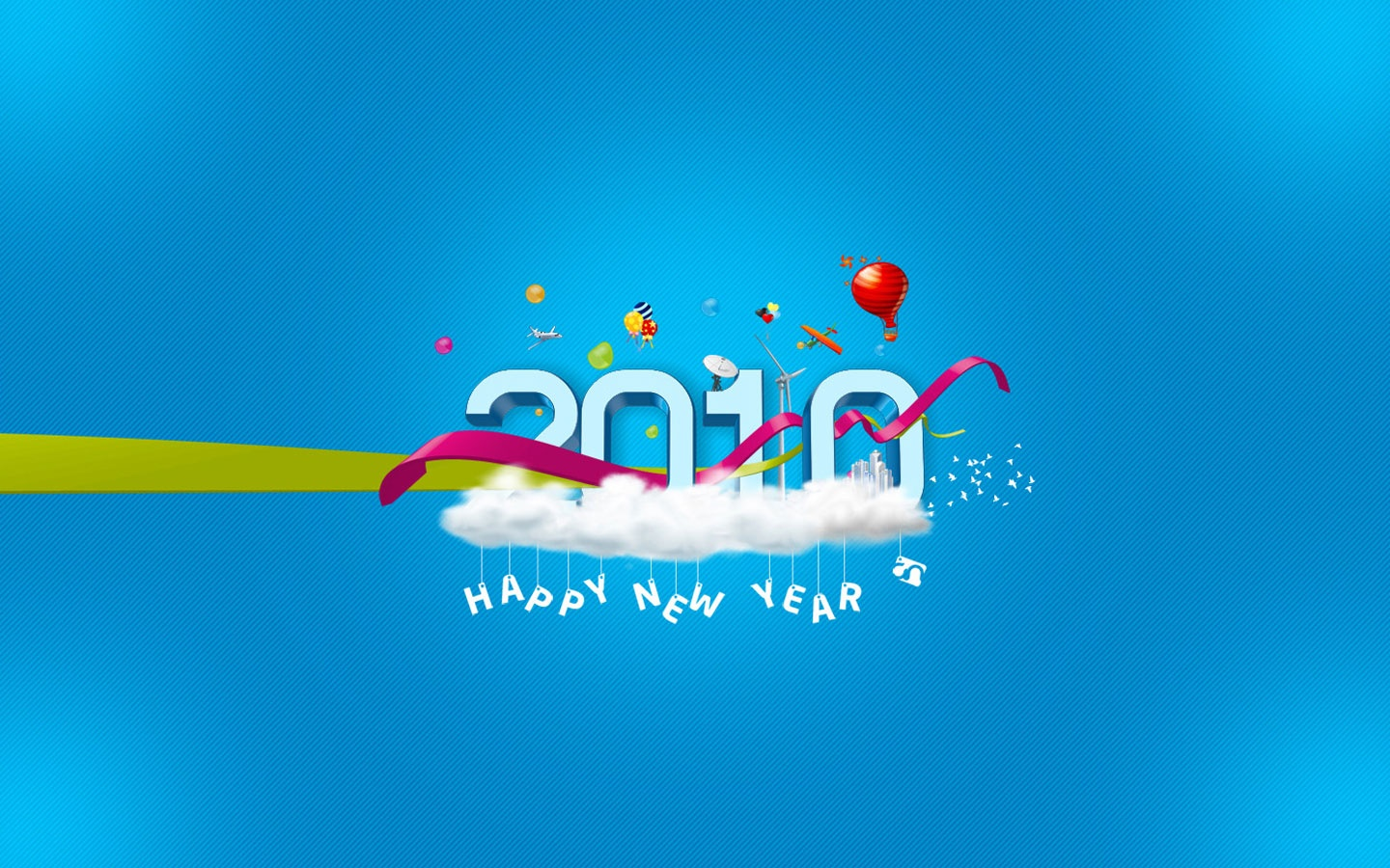 new year 2010 widescreen wallpapers