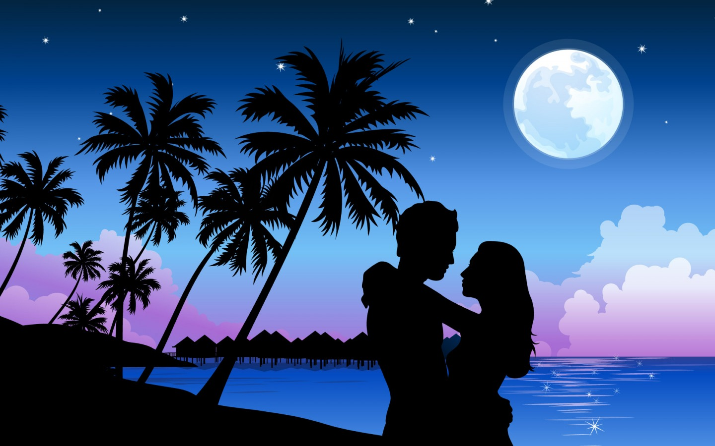 Romantic Paradise Wallpaper Vector D Wallpapers in jpg format for