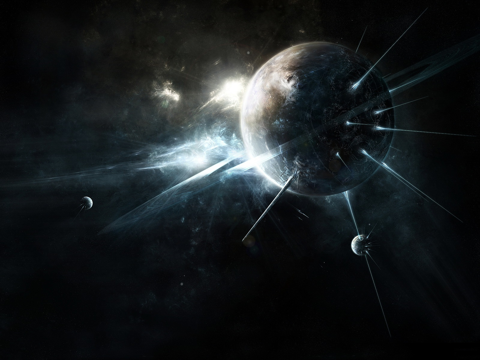 Dark Space Abstract Wallpapers