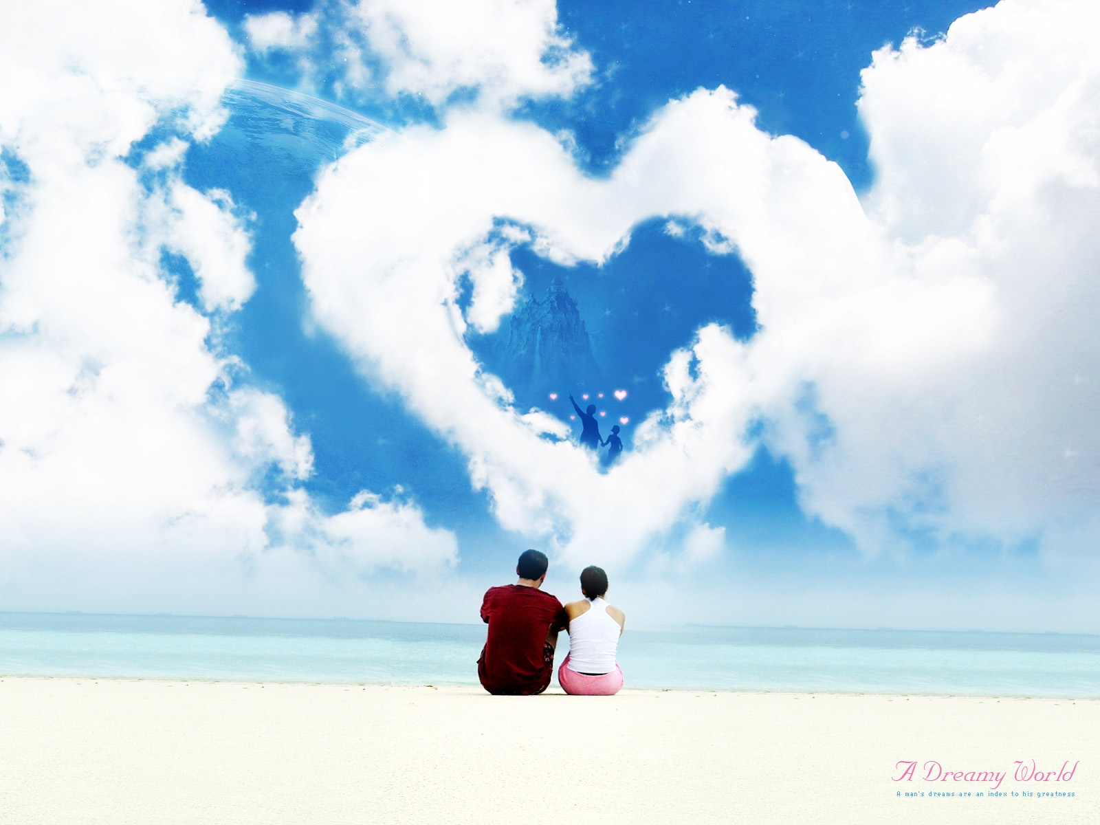 Wallpaper download in love - Dreamy Love World