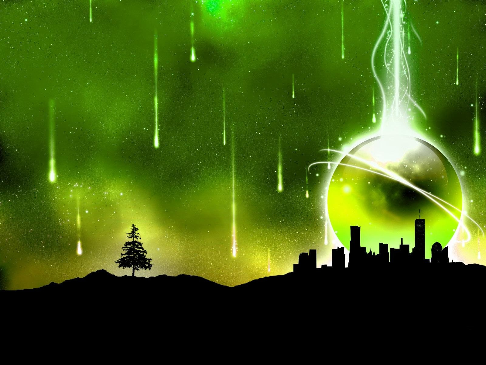 Green Abstract City Wallpapers