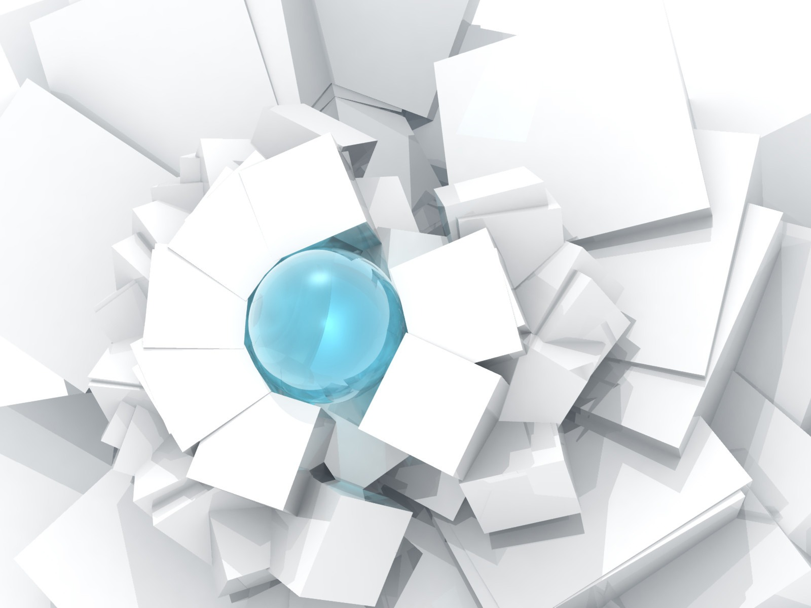Abstract 3d Wallpaper White