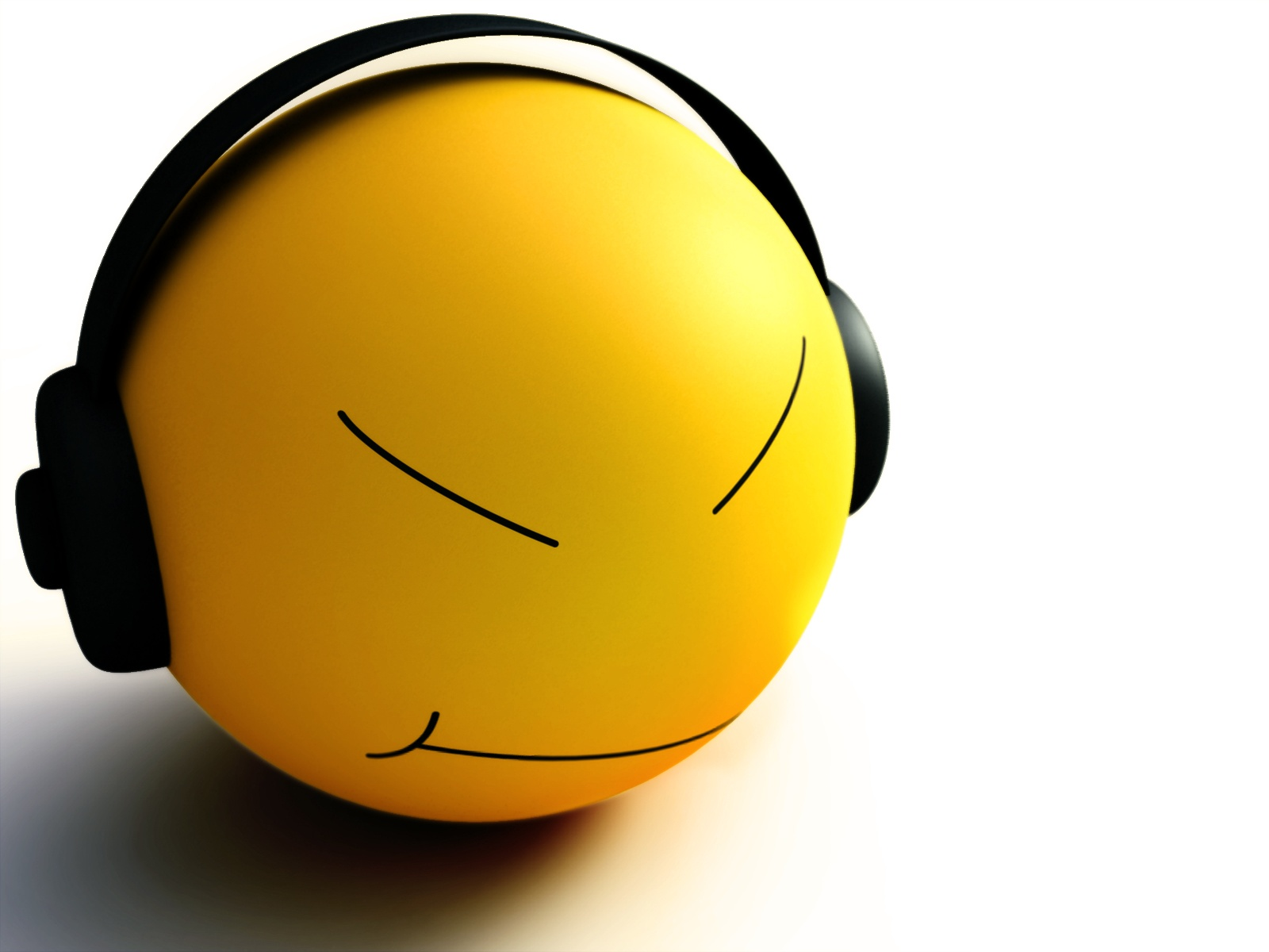 Wallpaper download music - Smiley Listen Music