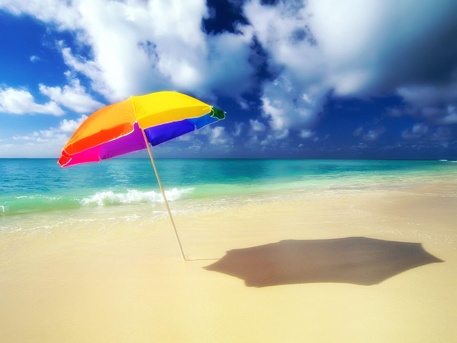 Sun umbrella Wallpaper Beaches Nature Wallpapers in jpg format for