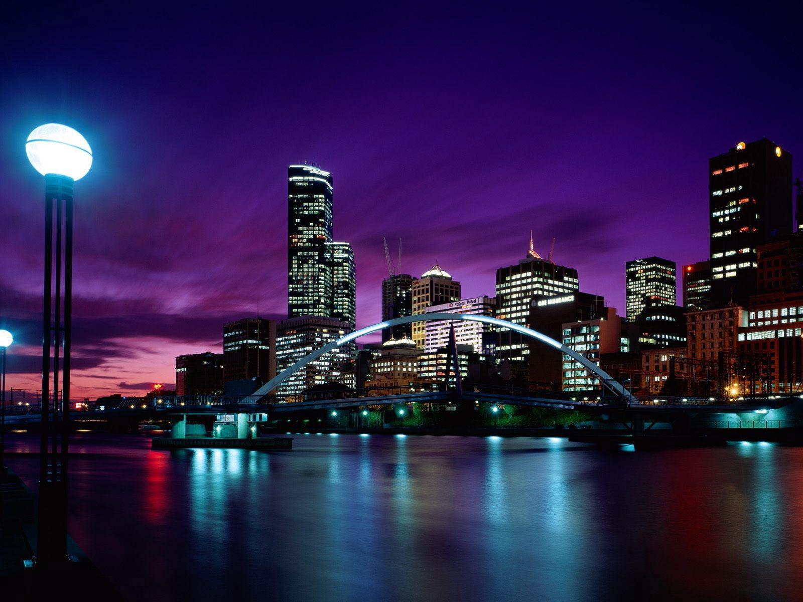 Sunset Over Melbourne Wallpaper Australia World Wallpapers in jpg
