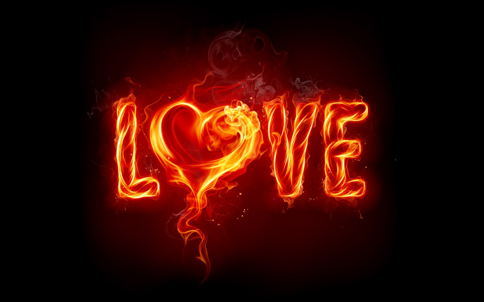 Love Fire Wallpaper Valentines Day Holidays Wallpapers