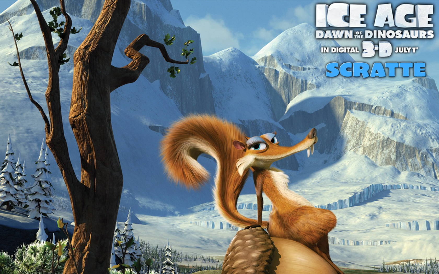 Ice age 3 dawn of the dinosaurs cartoon background for lumia.