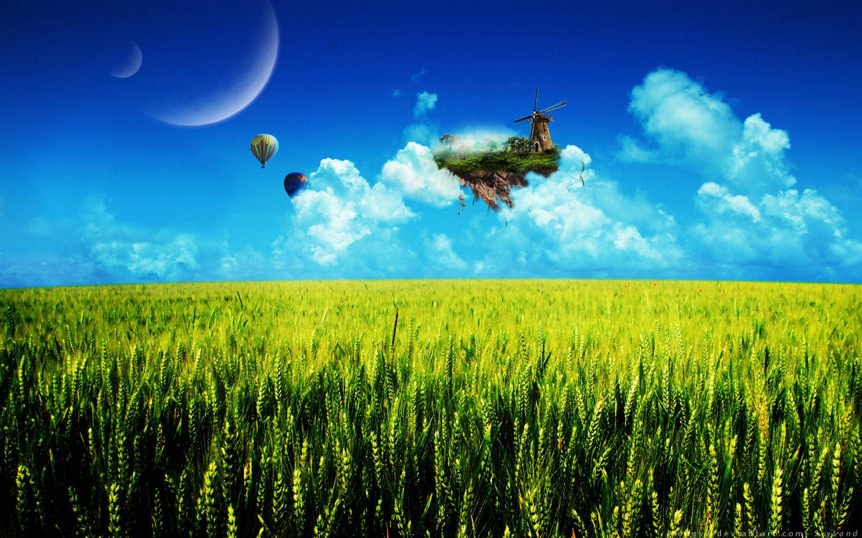 skyland wallpaper photo manipulated nature wallpapers in jpg format