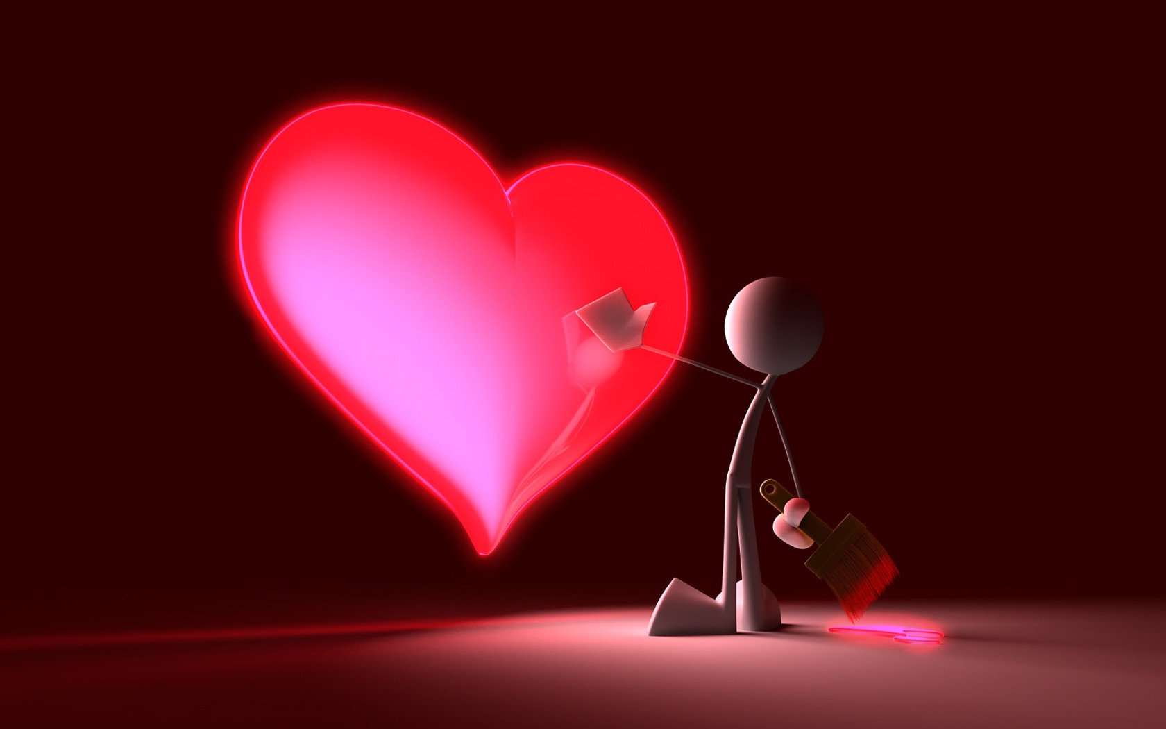 Touch My Heart Wallpaper 3D Characters Wallpapers