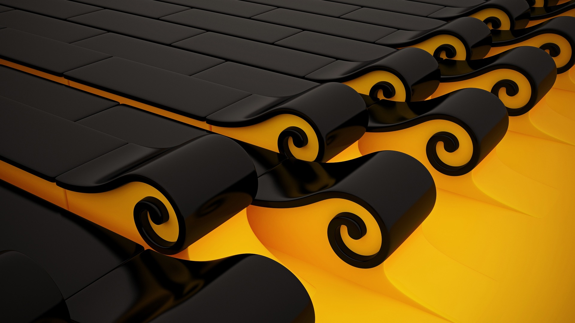 Wallpaper Abstract Yellow Black Wallpaper Hd For Android