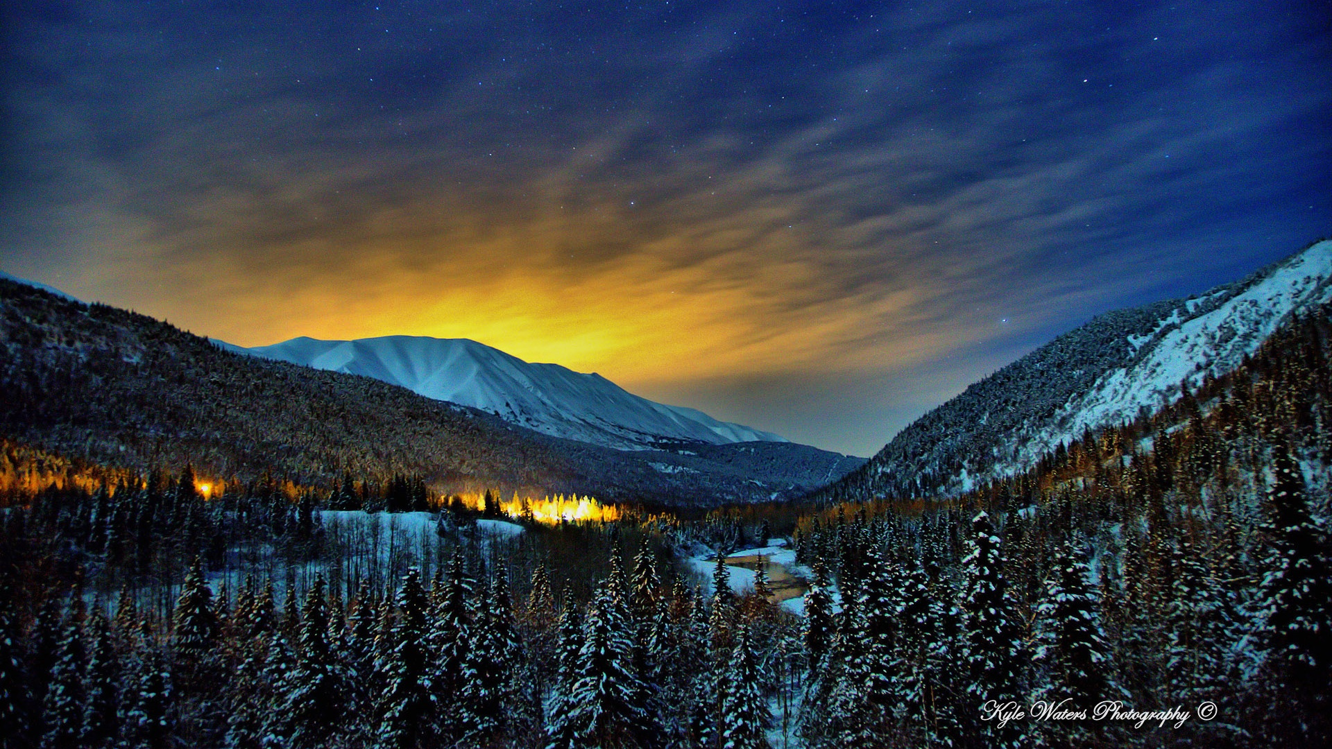 Alaska Winter Nights Wallpapers In Jpg Format For Free Download