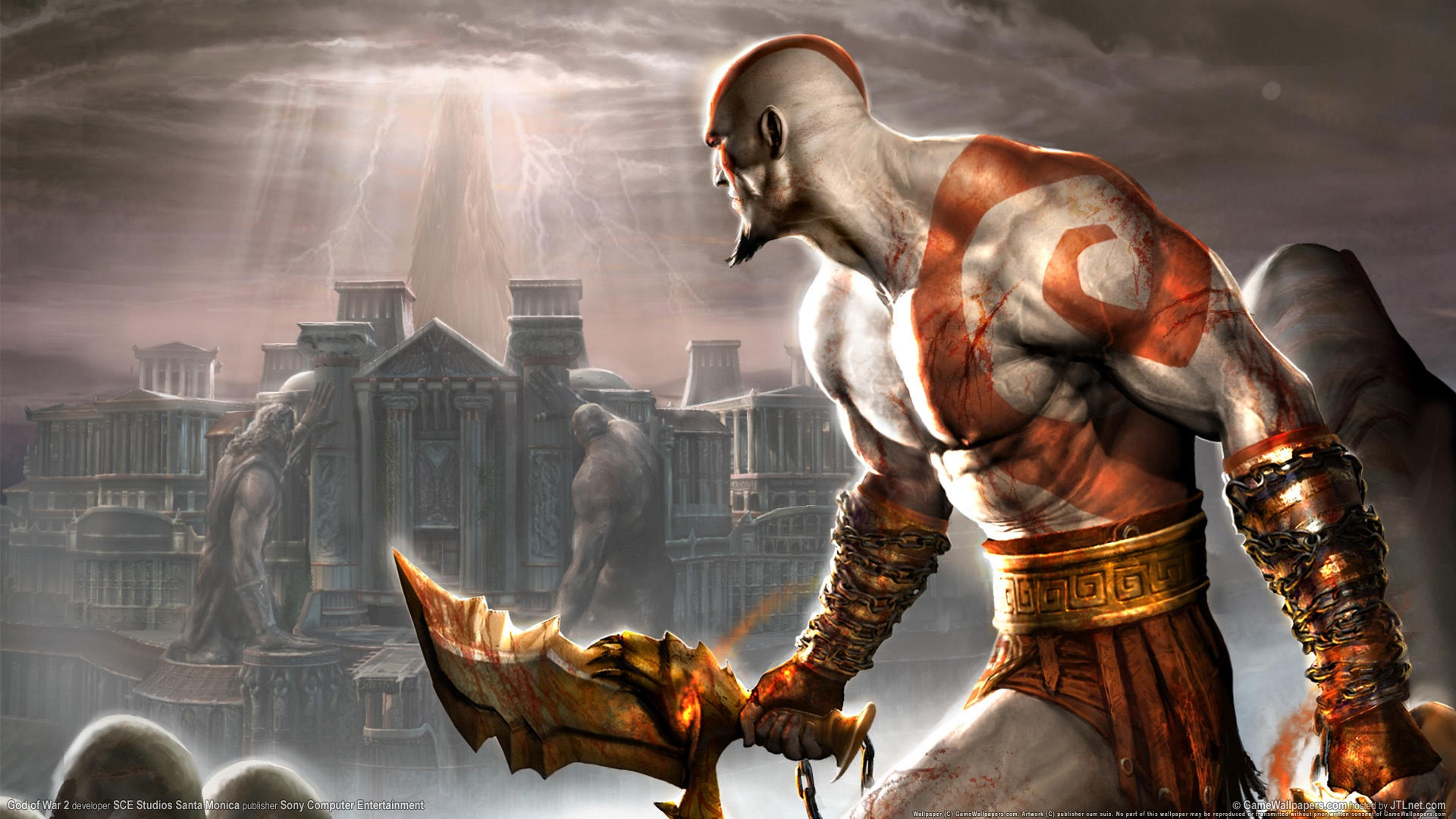 god of war 2 ps2 game wallpapers in jpg format for free download