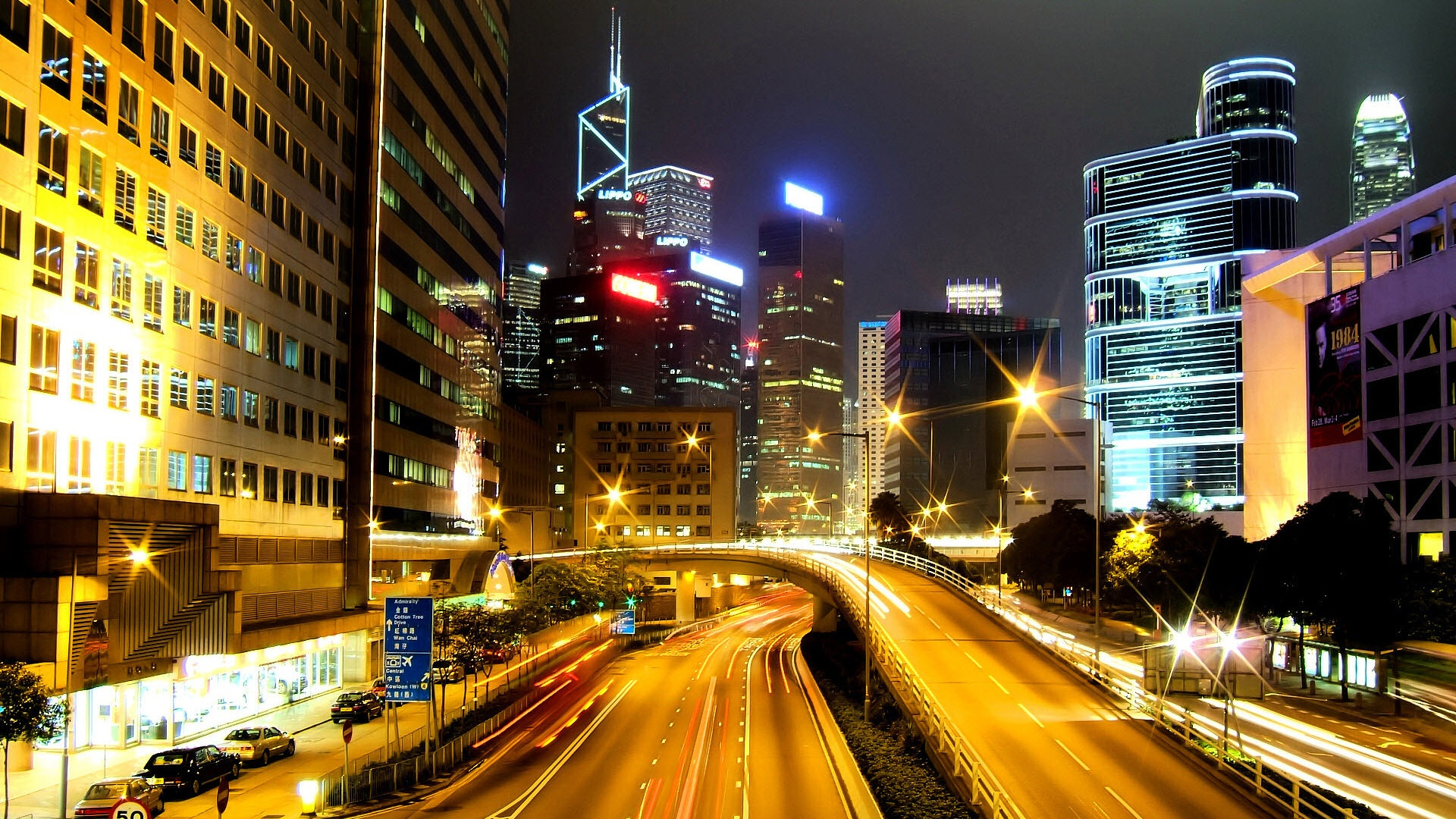 <b>Hong Kong City Nights</b> HD wallpapers (40 Wallpapers)