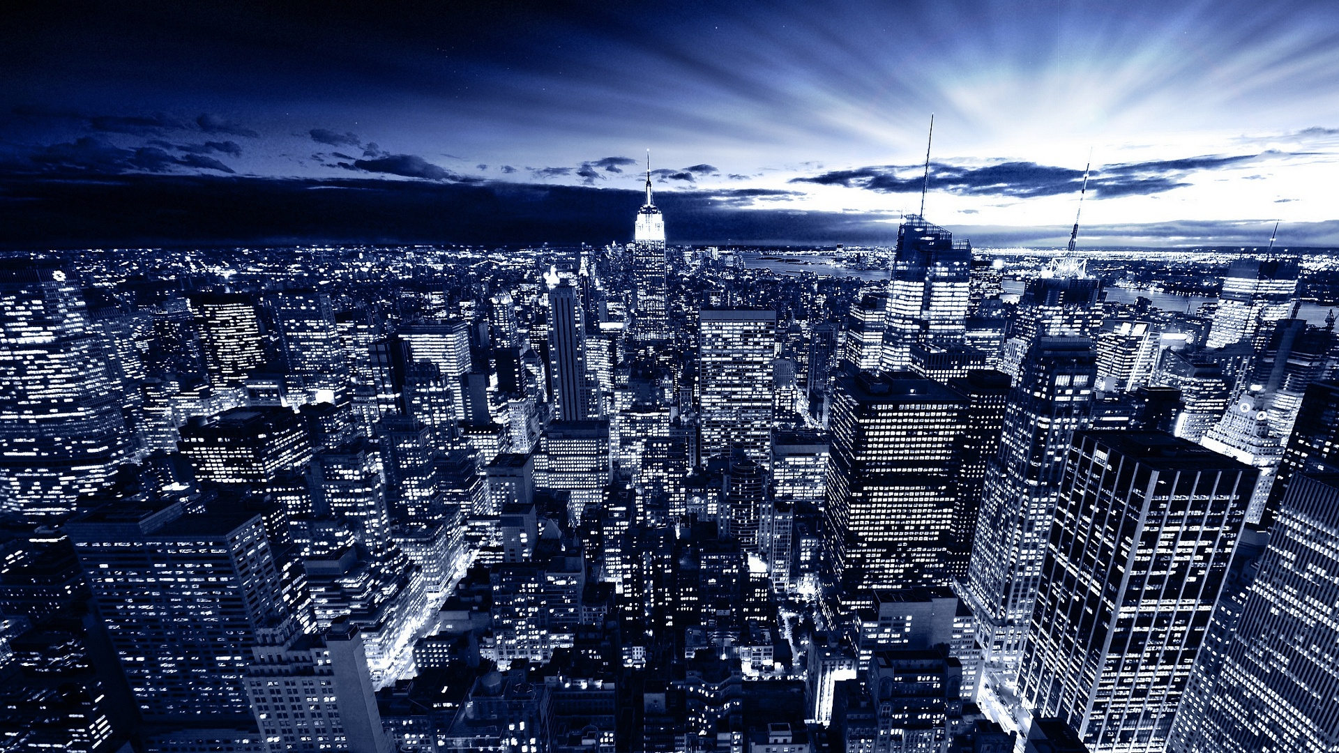 New York in Blue Wallpapers