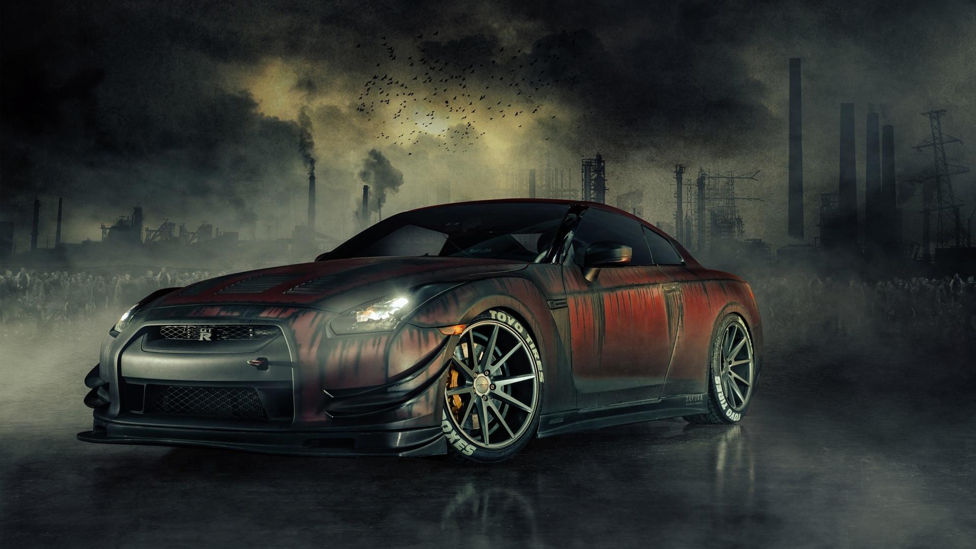 Nissan GTR R35 Zombie Killer Wallpapers