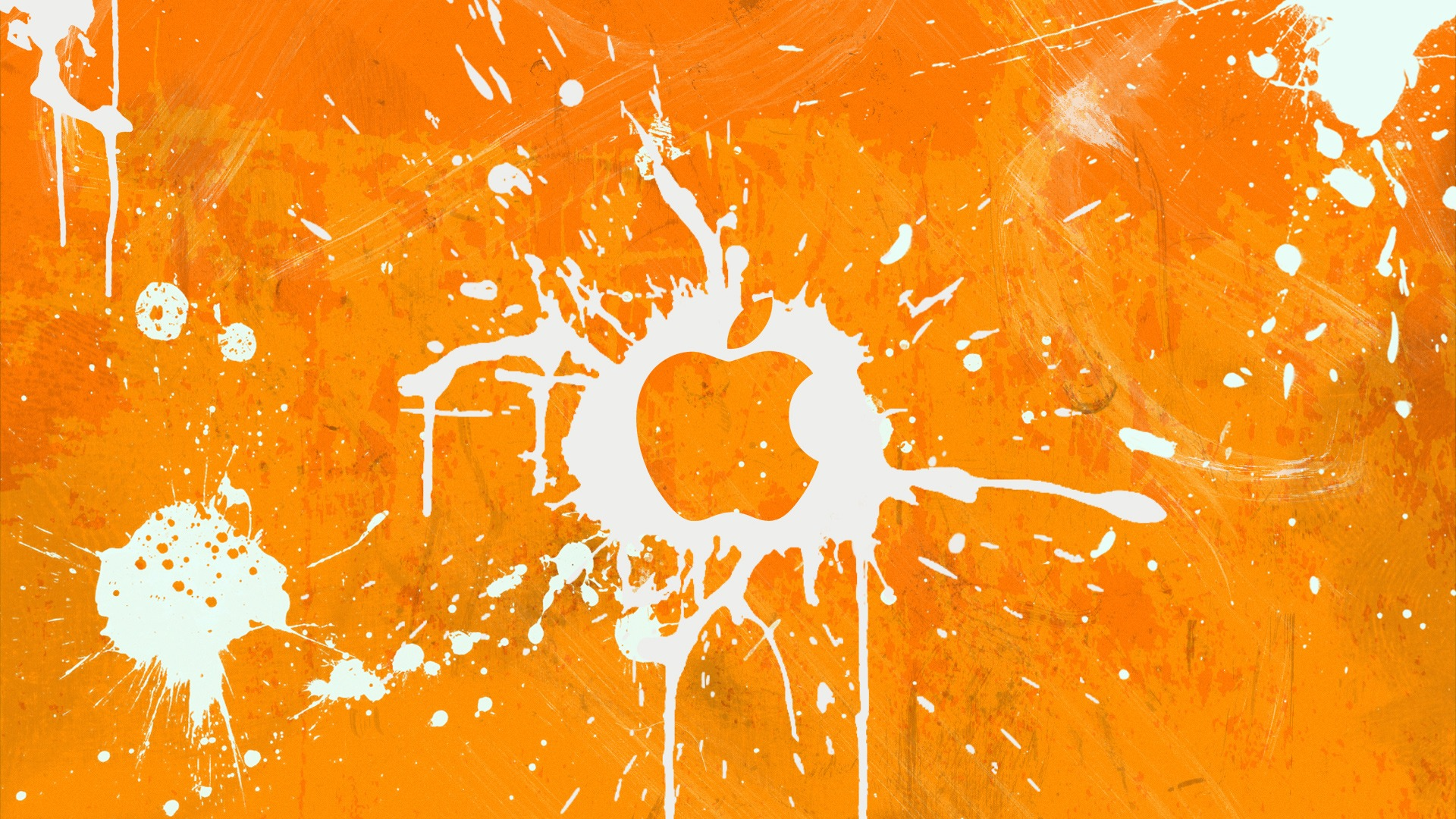 Orange Apple Splash Wallpaper Apple ...