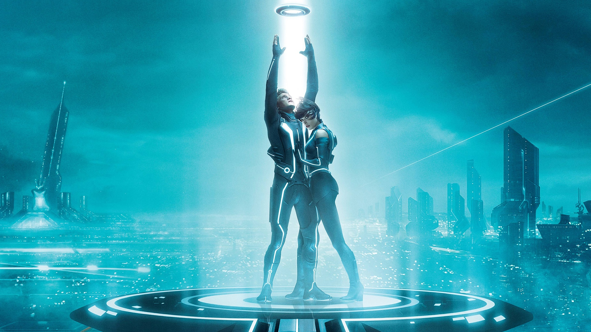 sam flynn quorra tron legacy wallpapers in jpg format for free download