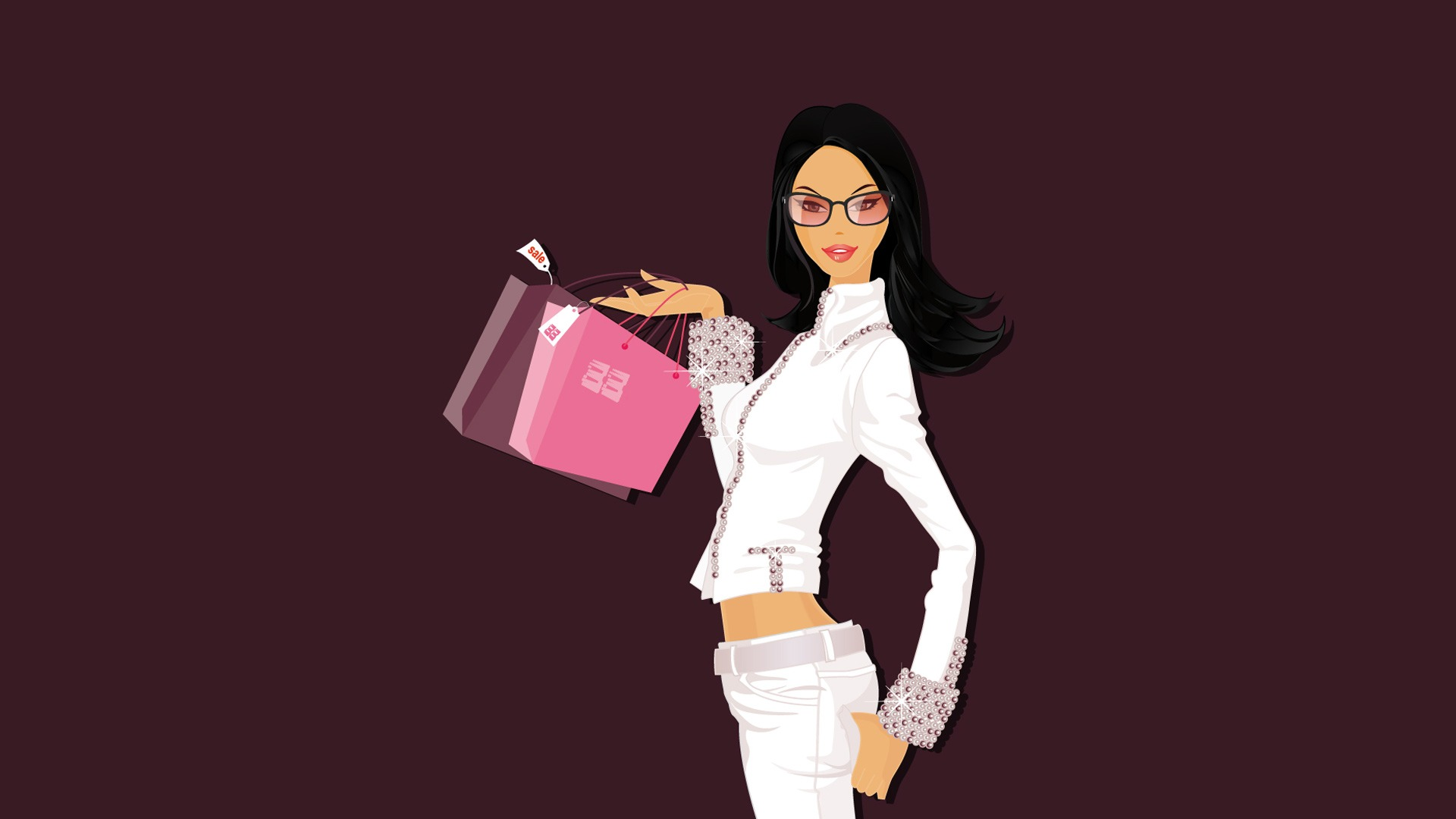 New girl wallpaper wallpapers for free download about 3513 shopping girl wallpaper vector 3d voltagebd Images