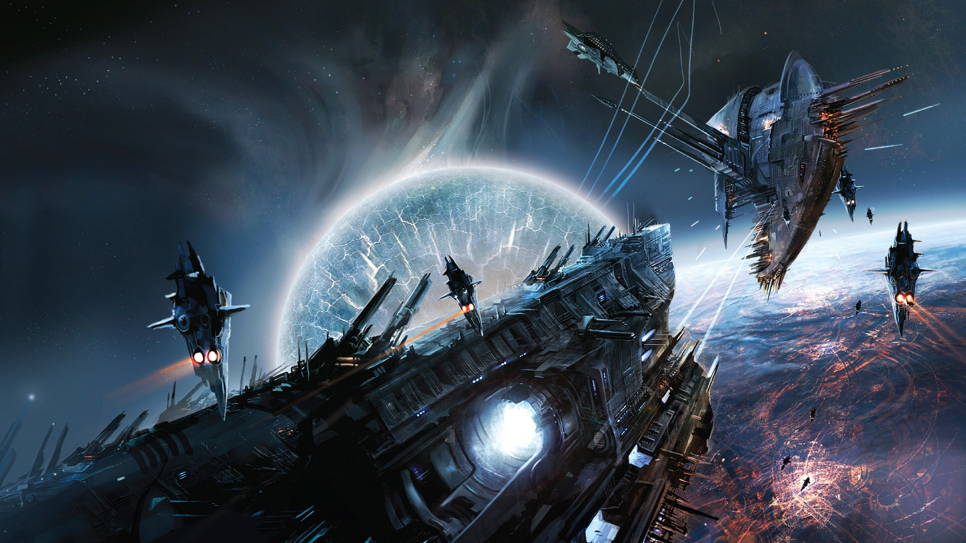 space war game scene wallpapers in jpg format for free download