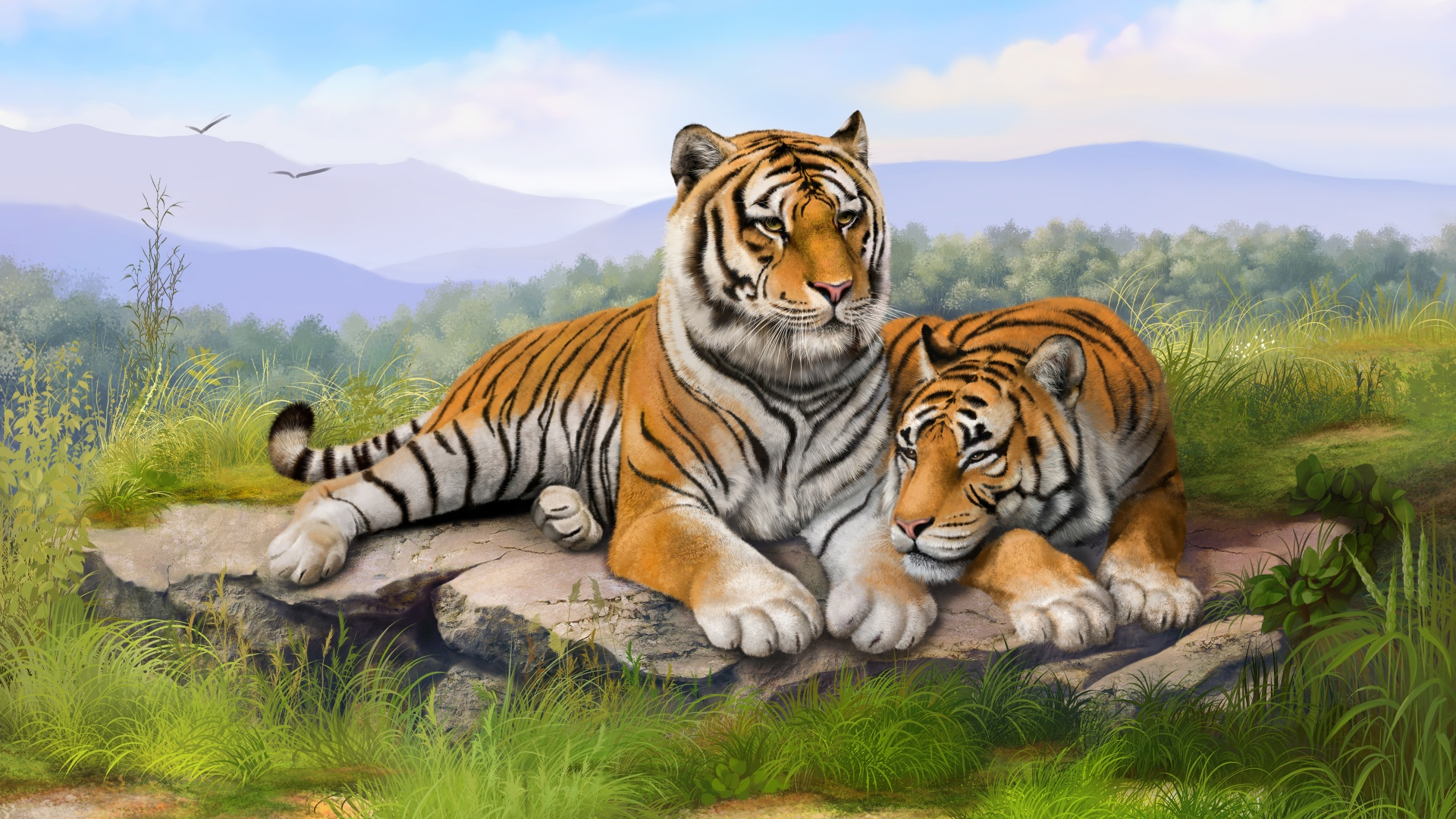 Tigers Art Wallpapers In Jpg Format For Free Download
