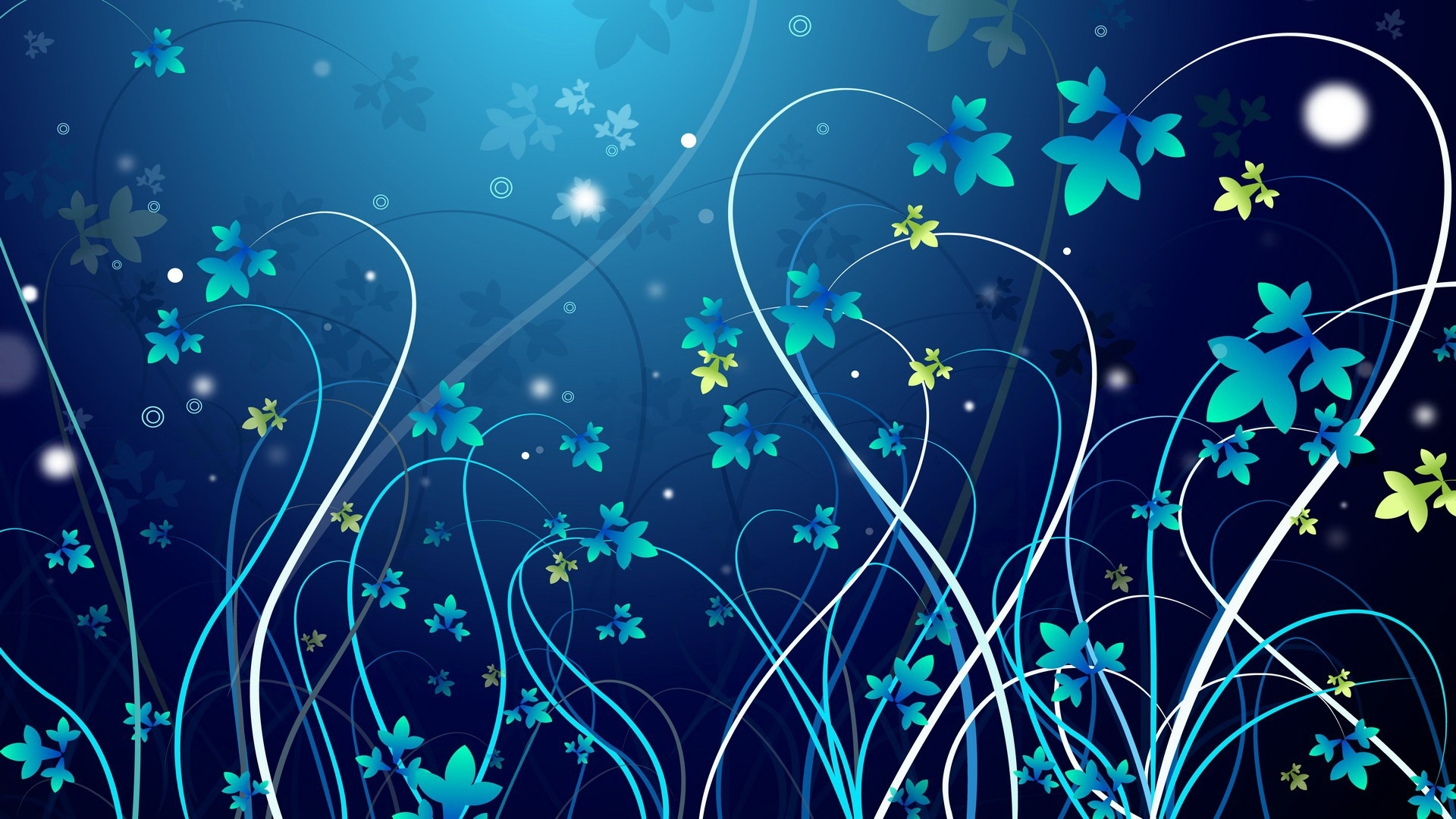 Green floral design vector graphic free vector graphics all free - Vector Flowers Wallpapers