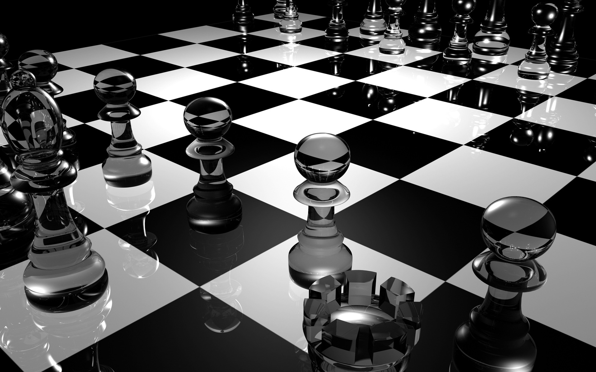 3D Chess Board Wallpaper Models Wallpapers
