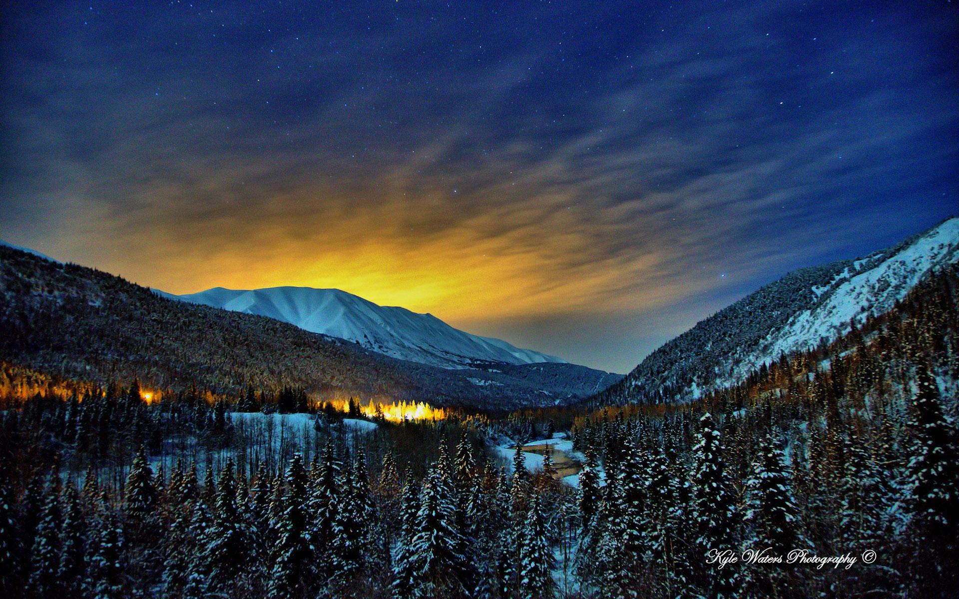 Alaska Winter Nights Wallpapers In Jpg Format For Free Download