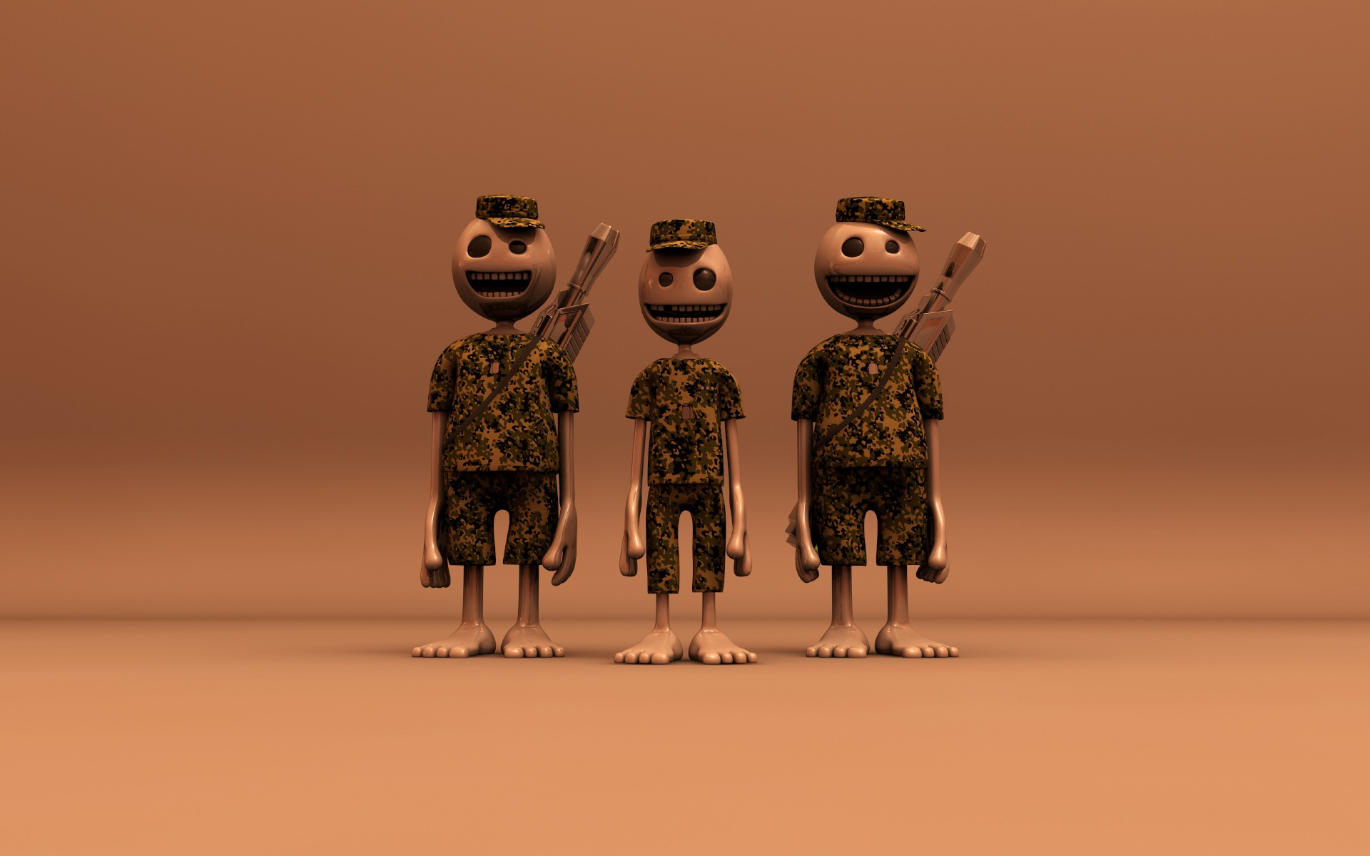 Army Group Wallpaper 3D Characters Wallpapers