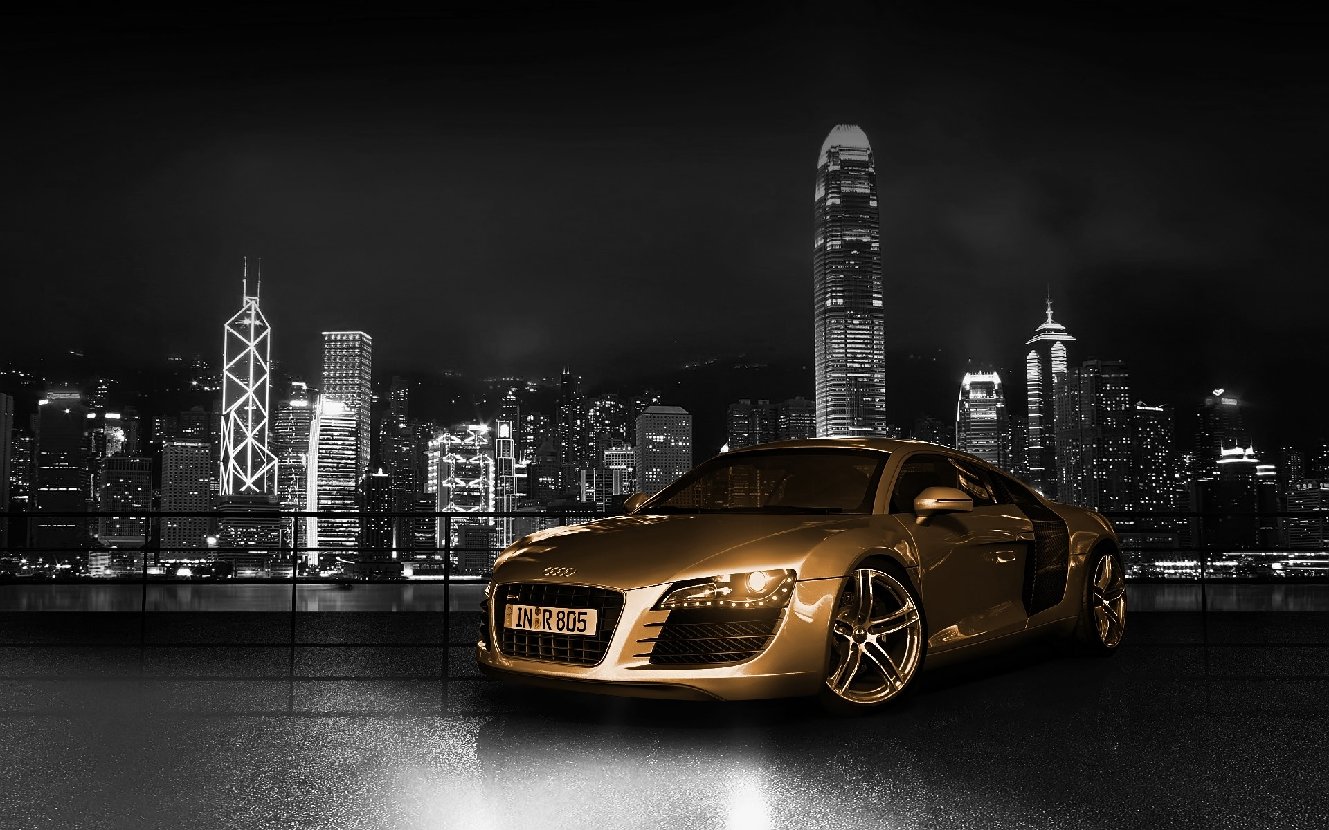 Audi R Gold Wallpaper Audi Cars Wallpapers In Jpg Format For Free - Audi car 3d