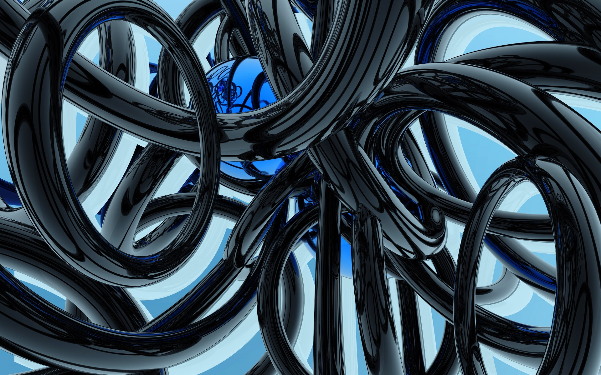 Black And Blue Wallpaper Abstract 3D Wallpapers