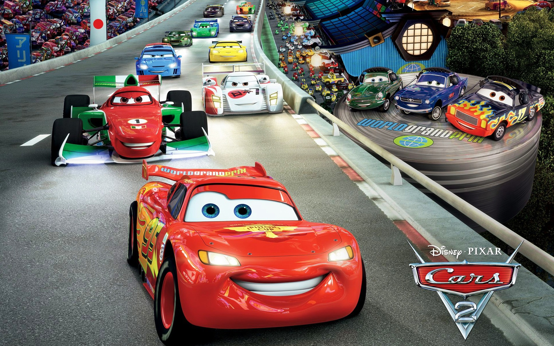 cars 2 race wallpapers in jpg format for free download
