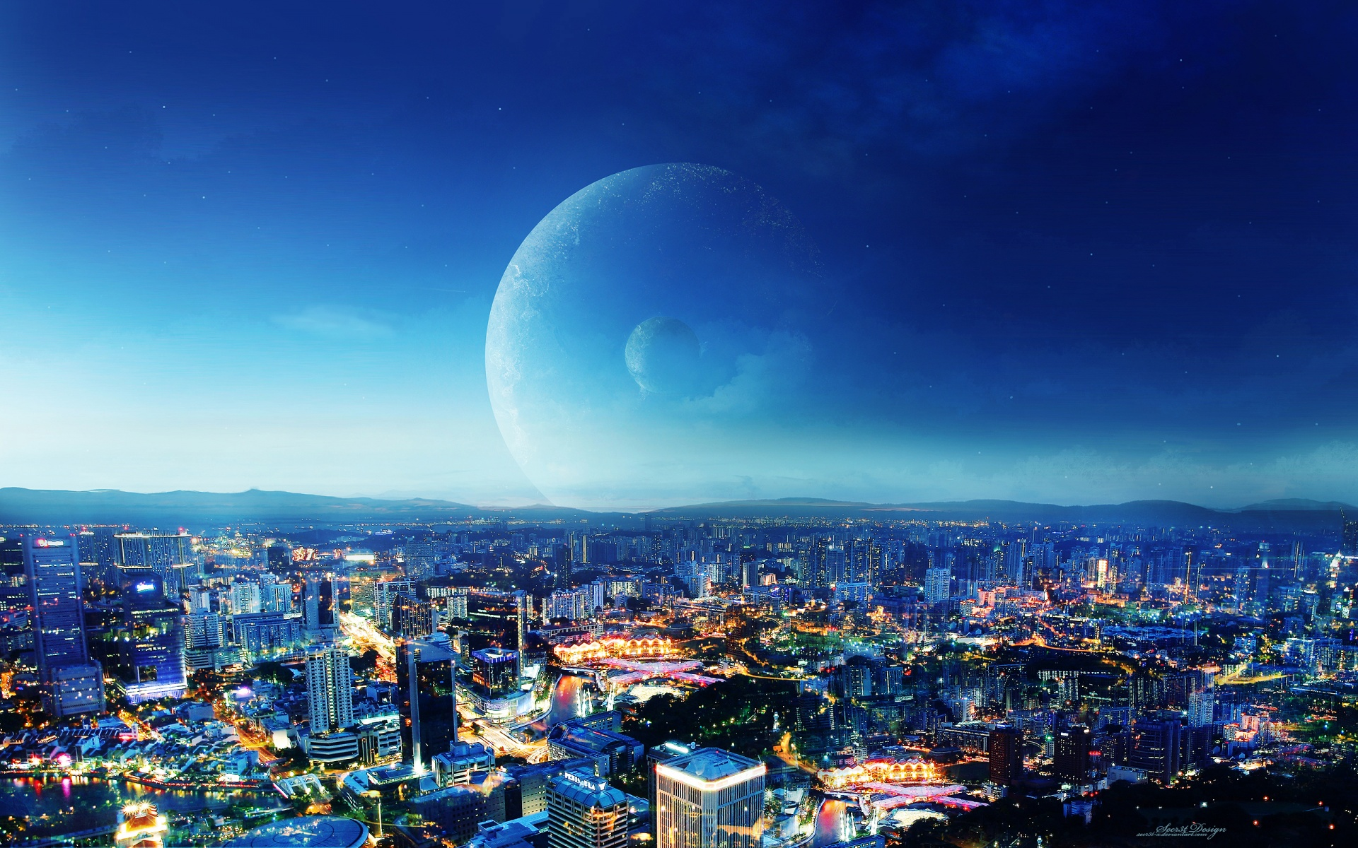 CIty Night Fantasy Wallpapers In Jpg Format For Free Download