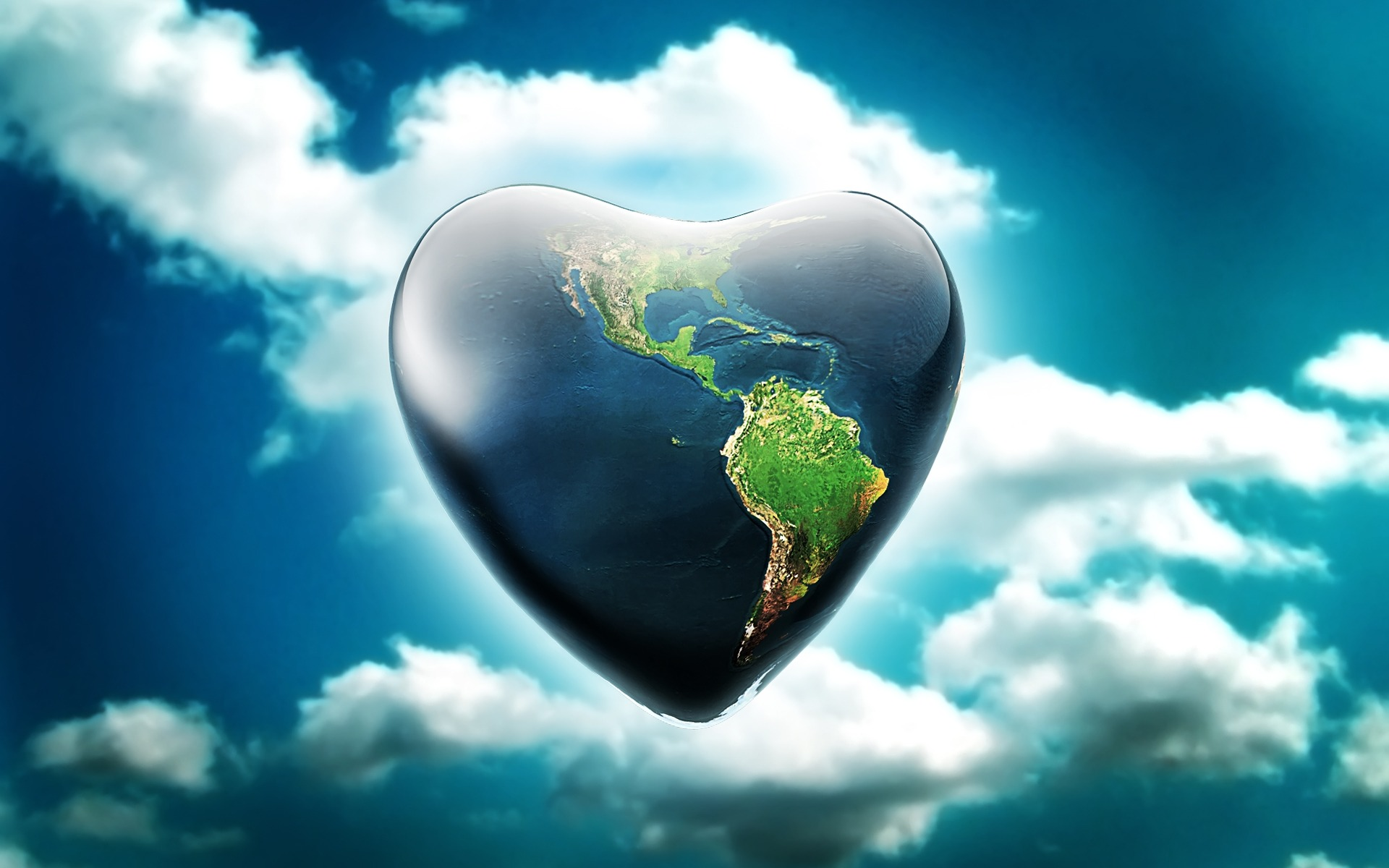 Earth Heart Wallpaper Abstract 3D Wallpapers