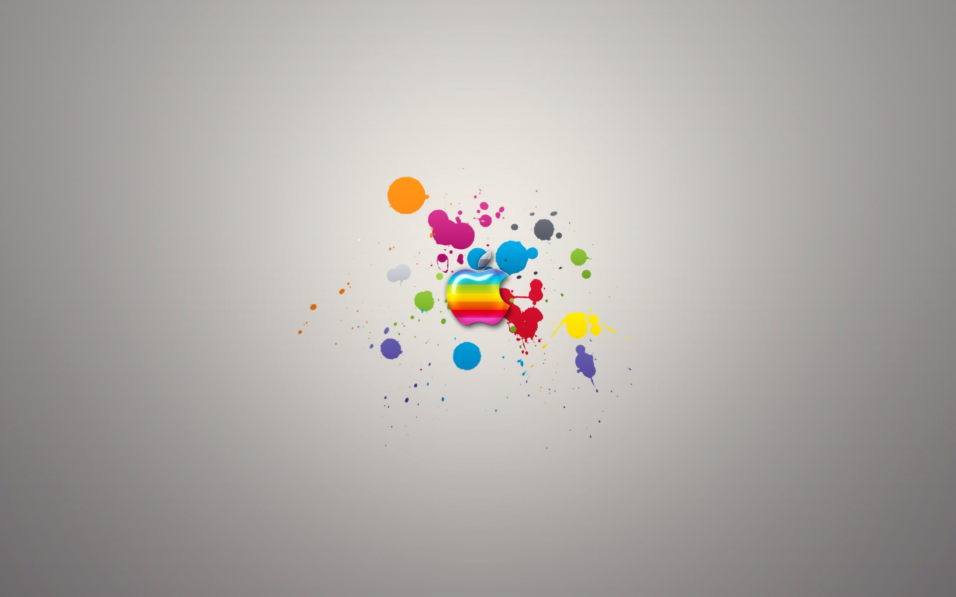 Download Wallpaper x Apple Mac Colorful Rainbow Paint