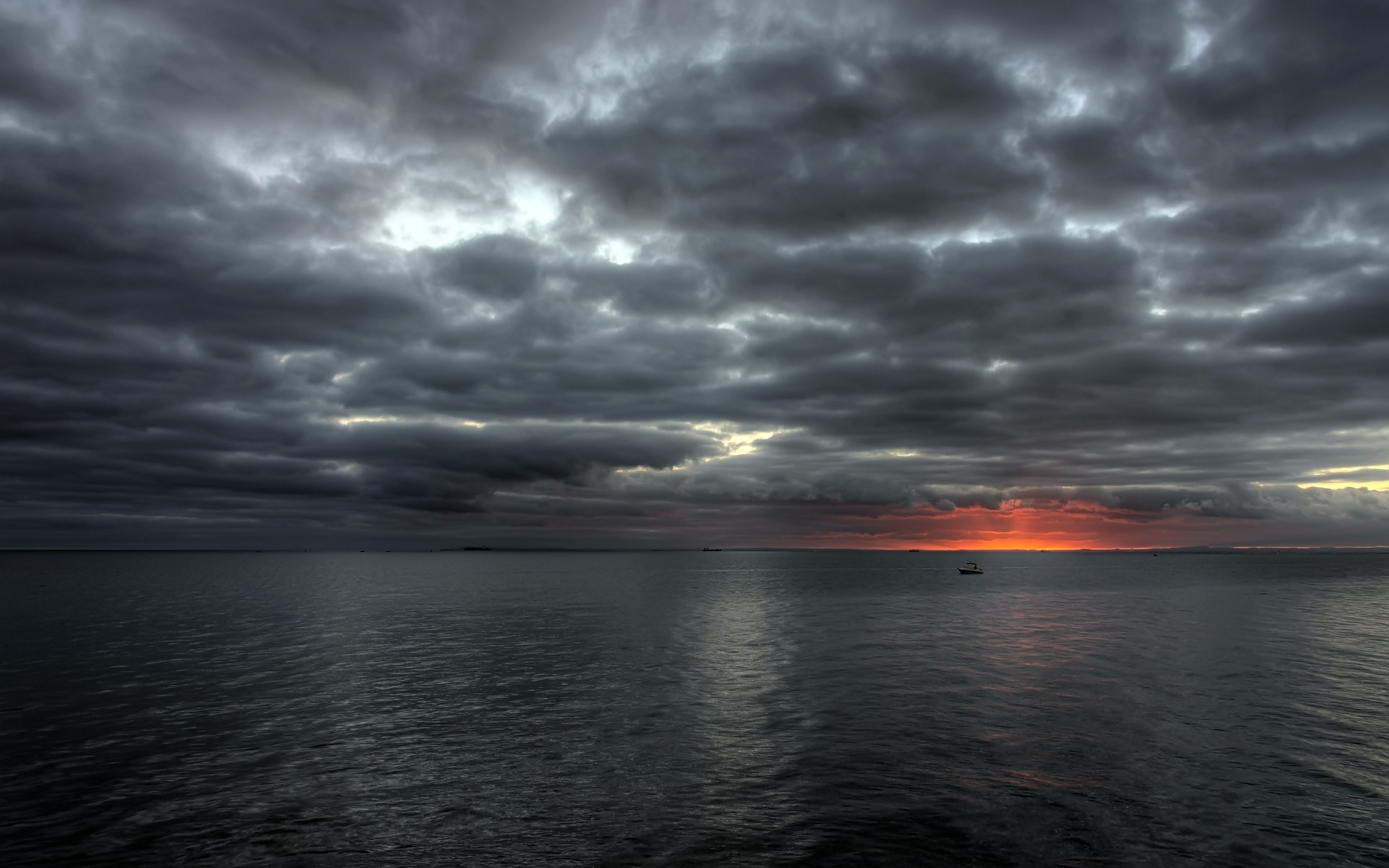 Find out Dark Evening Sea Waves wallpaper on
