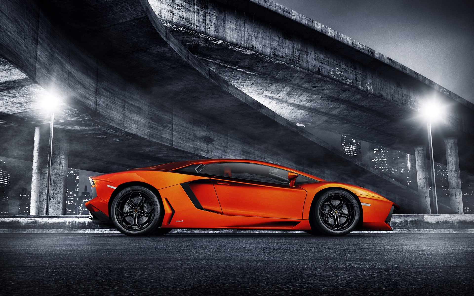 Beau Lamborghini Aventador Sports Car Wallpapers