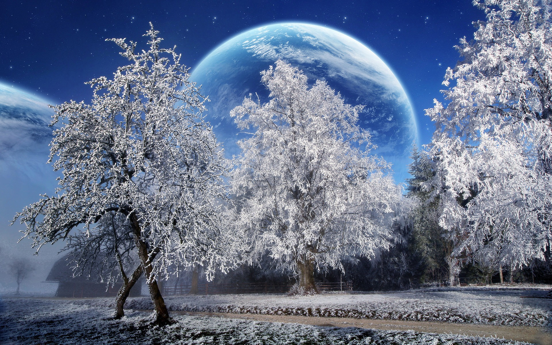 Magic Winter Wallpaper Photo Manipulated Nature Wallpapers in jpg
