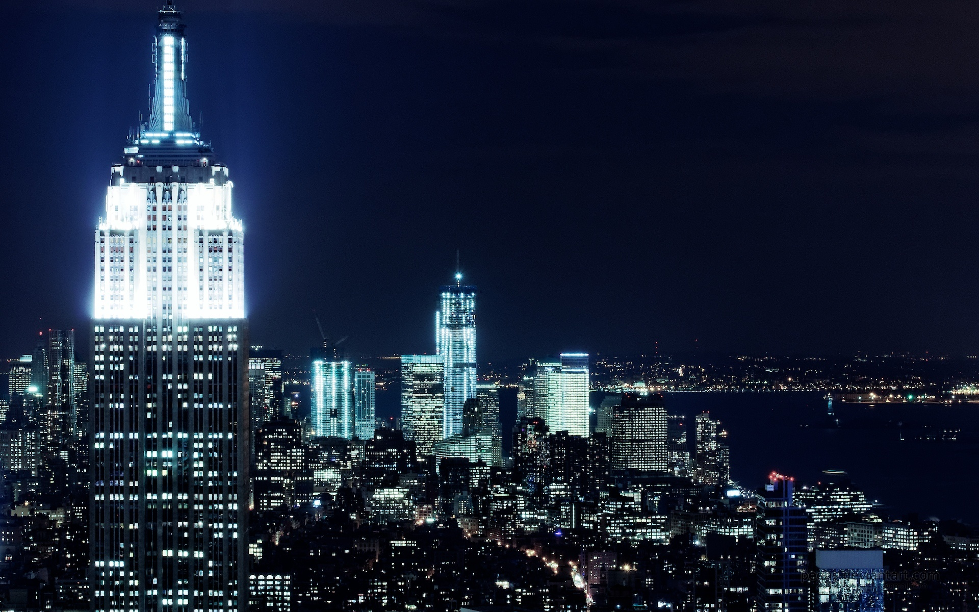 New York City Nights Wallpapers In Jpg Format For Free Download