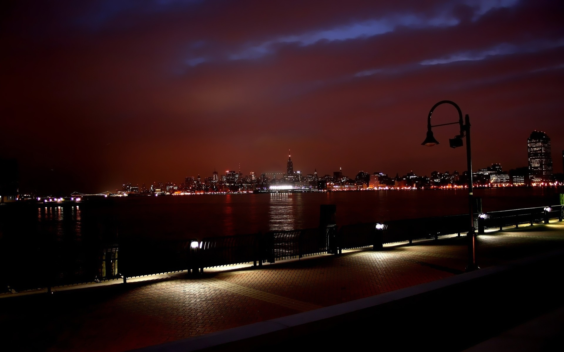 New York Skyline At Night Wallpapers In Jpg Format For Free Download