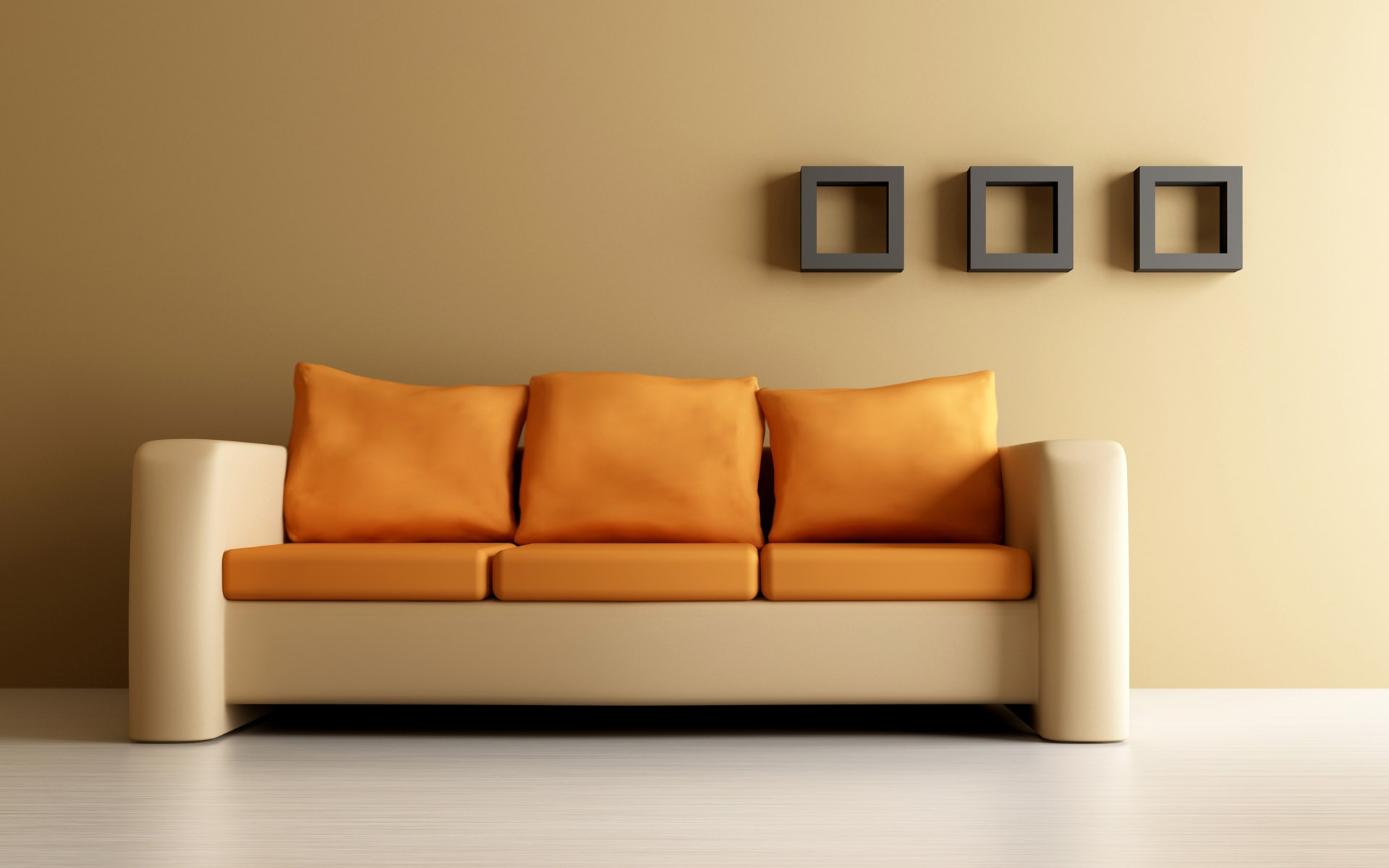 Orange Couch Wallpaper Interior Design Other