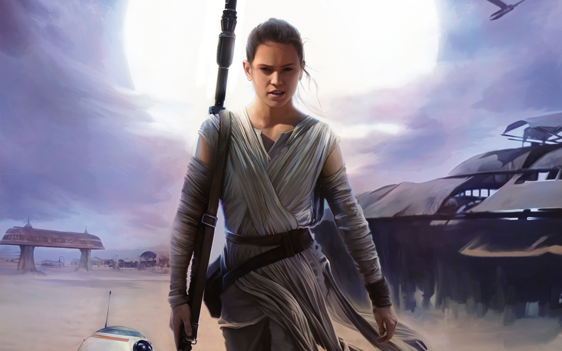 rey star wars the force awakens wallpapers in jpg format for free
